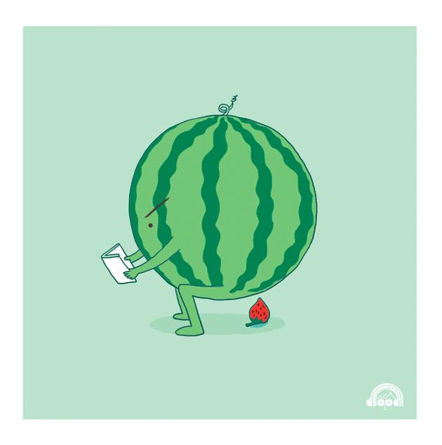 i love doodle watermelon