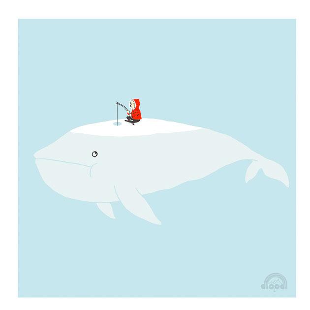 i love doodle ice fishing