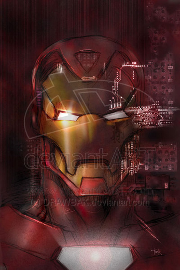 illustration iron man