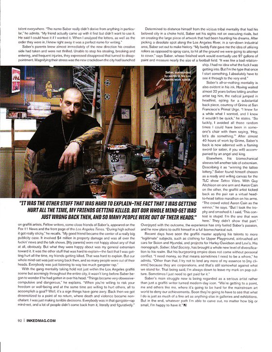 Saber Inked Magazine