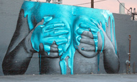 "New ""Graffiti Fetish Mural"" by Insa for LA Freewalls Projects"