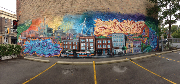 iphone 5 panorama graffiti