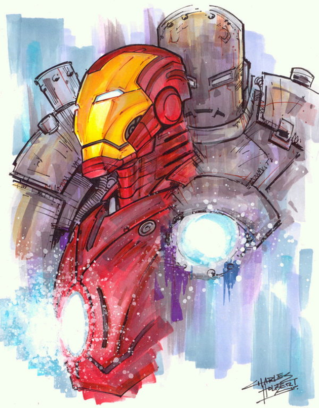 iron man illustration art