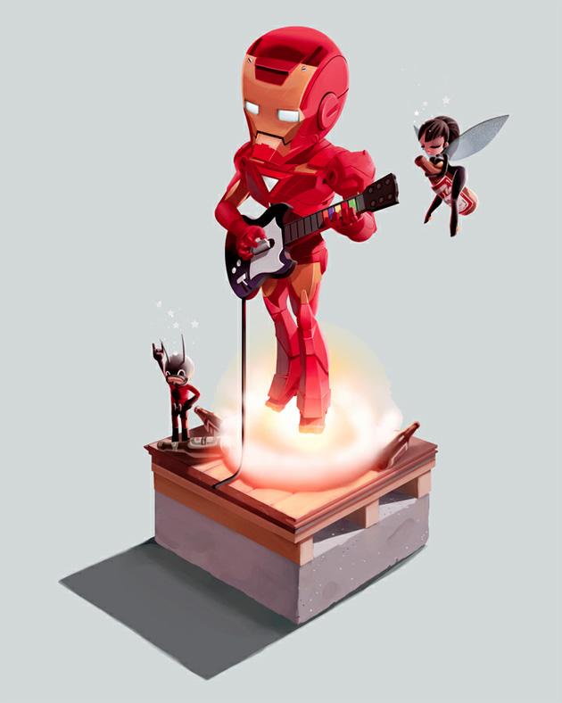 iron man illustration by Andrew Wilson