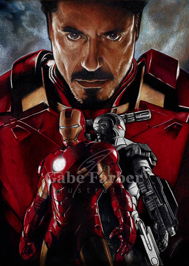 iron man tony stark illustration