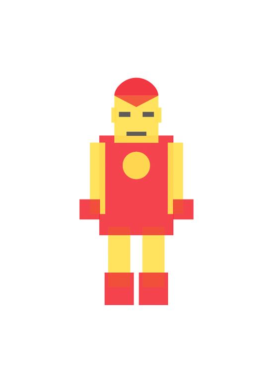 ironman minimal illustration