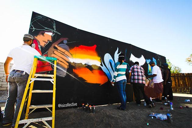 isi collective graffiti wall