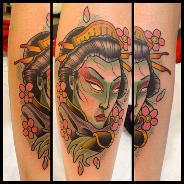 japanese tattoo by David Tevenal