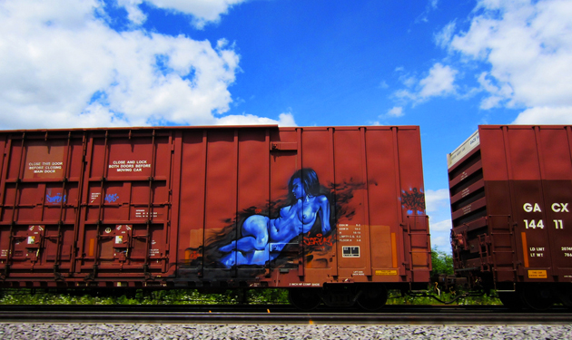 jarus girl graffiti freight