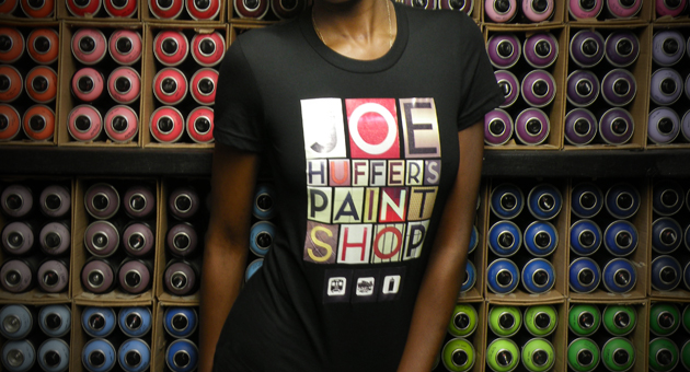 Joe Huffer's Paint Shop T-Shirt Girl Model