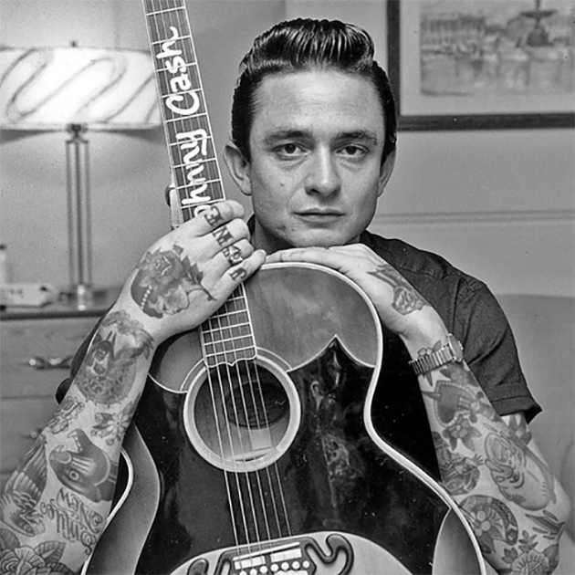 johnny cash with tattoos
