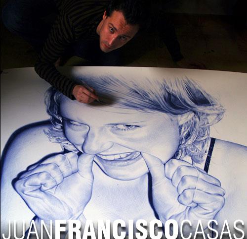 Juan Francisco Casas pen art
