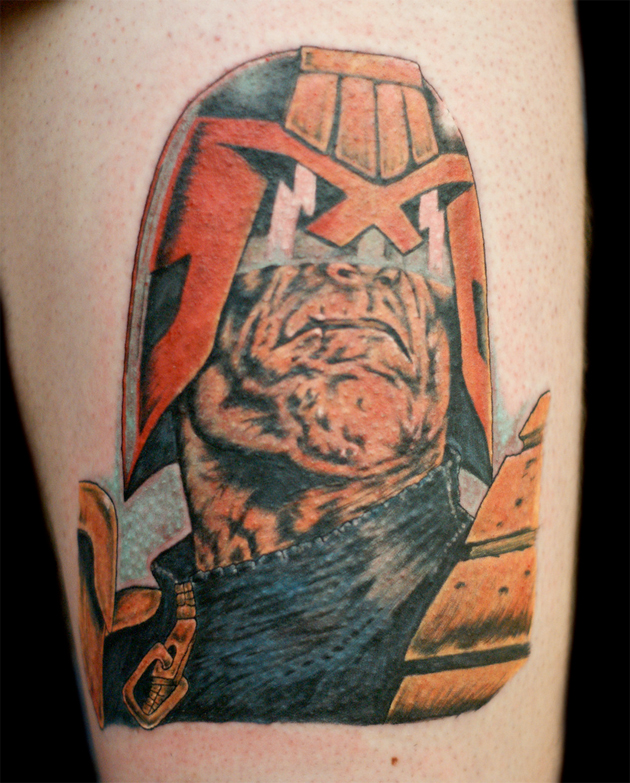 judge dredd tattoo