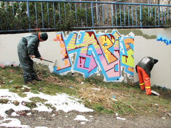 kaput graffiti buffed