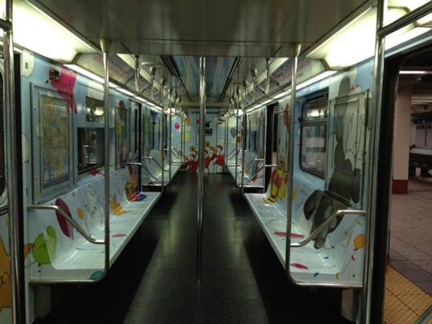 kaws inside subway