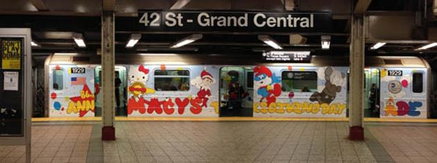 kaws new york graffiti subway
