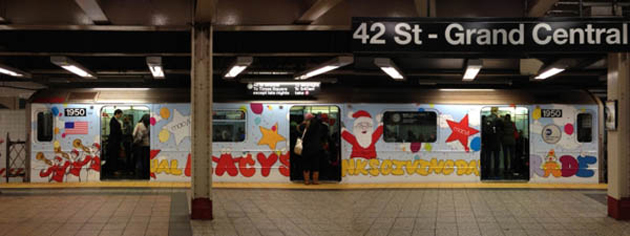 kaws subway art