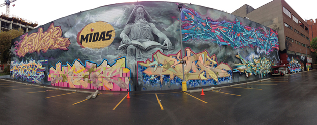 keele wall graffiti panorama