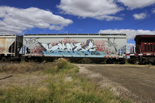 keep6 wholecar graffiti