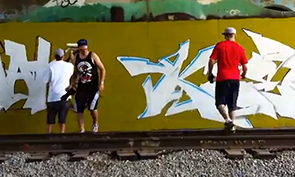 Snak The Ripper & Keep6 Graffiti