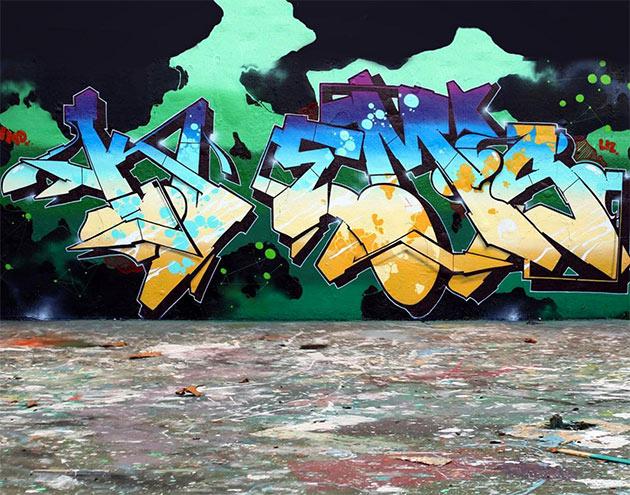 kems graffiti wall