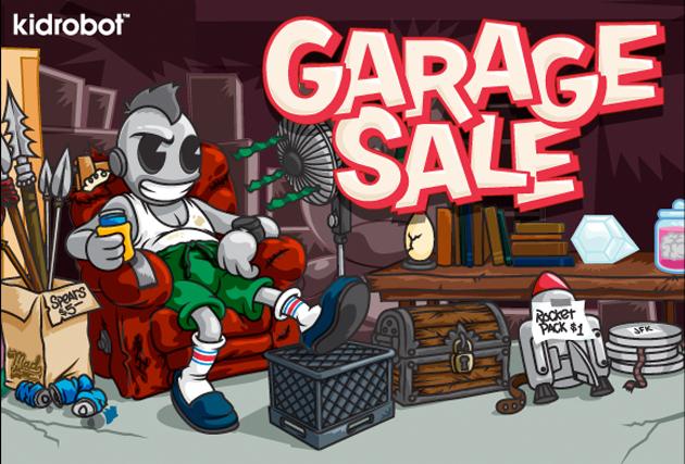 kidrobot garage sale