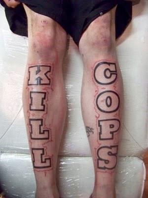 kill cops tattoo
