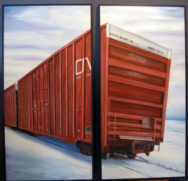 kris moffatt cn boxcar painting