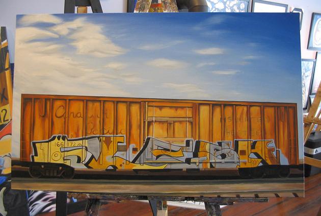 kris moffatt flesk painting