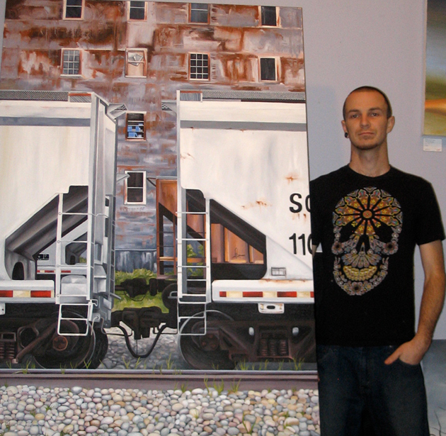 kris moffatt freight canvas artwork