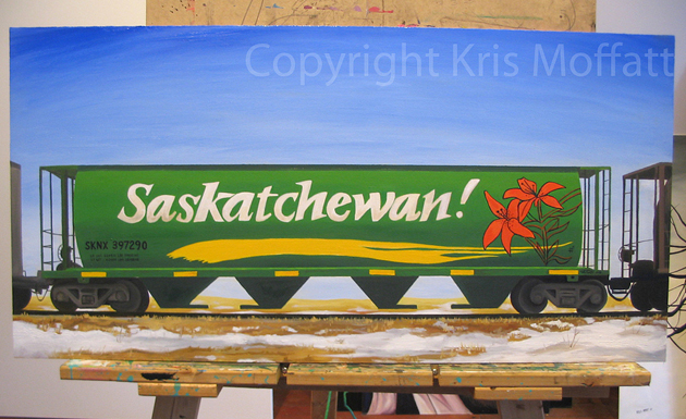kris moffatt saskatchewan hopper freight painting