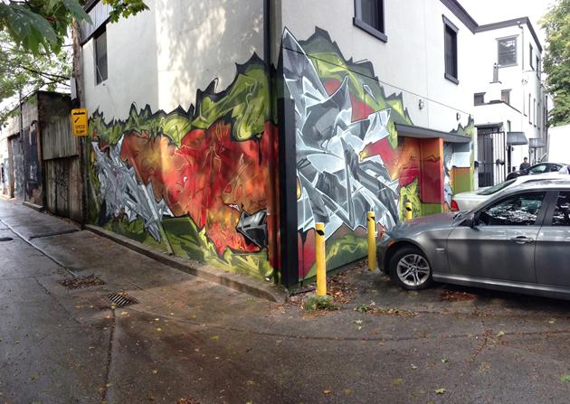 kwest corner graffiti panorama