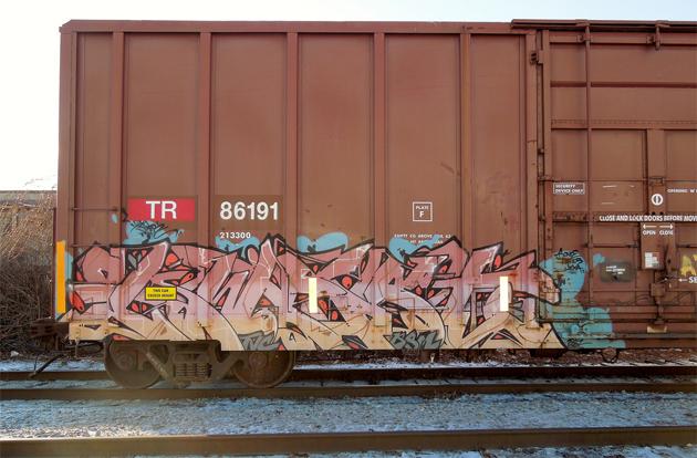 kwest graffiti boxcar