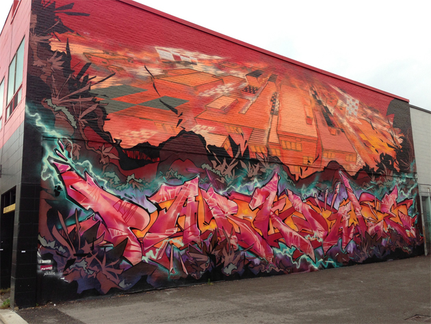 kwest graffiti wall toronto
