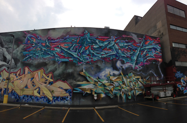 kwest rons bacon graffiti panorama
