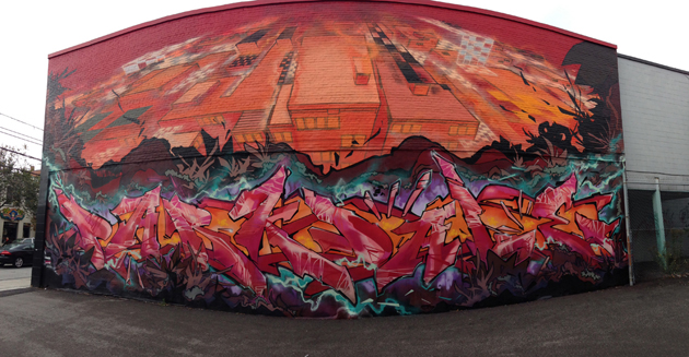 kwest wall graffiti panorama