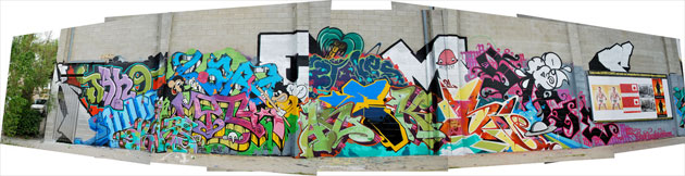large graffiti wall la