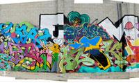 Large Graffiti Wall in LA