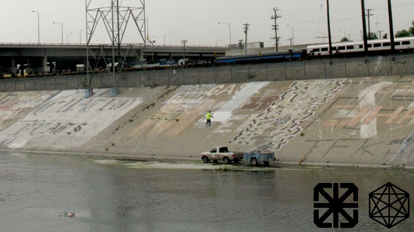 Los Angeles River Graffiti Buffed