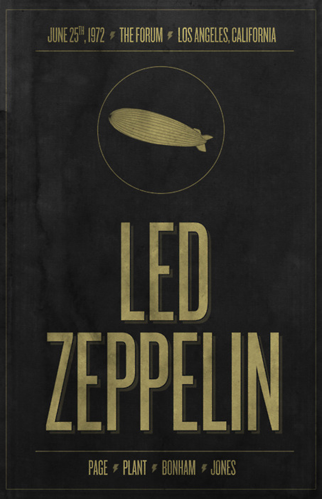 led zepplin flyer design