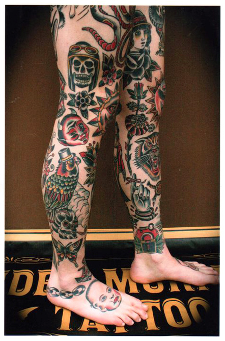 leg tattoos by stuart g cripwell