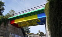 Lego Bridge by Street Artist Megx