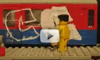 Lego Bombing Trains