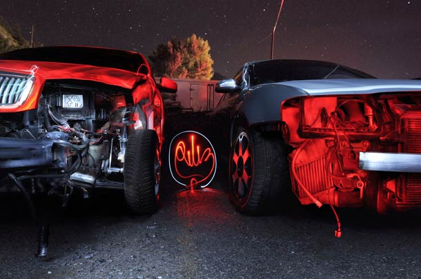 light painting cars