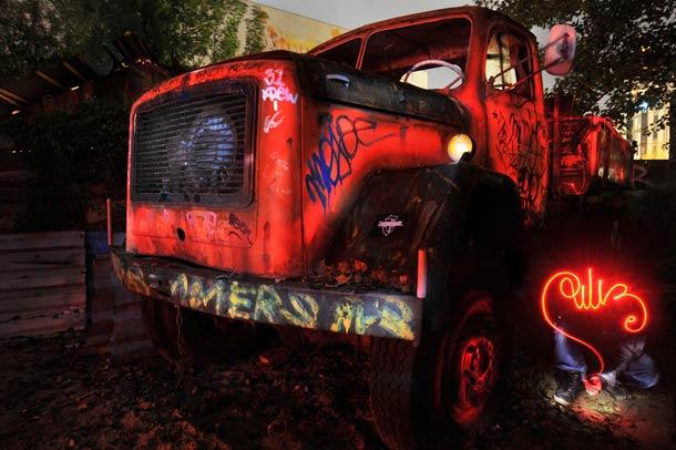light painting truck diliz
