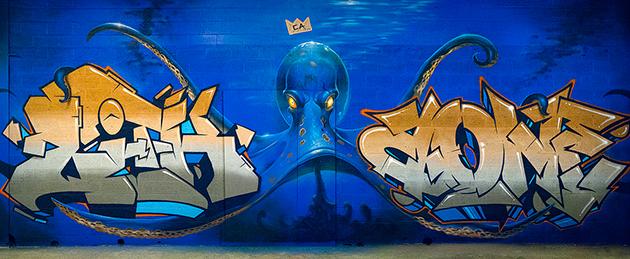 lith kred akuma graffiti wall