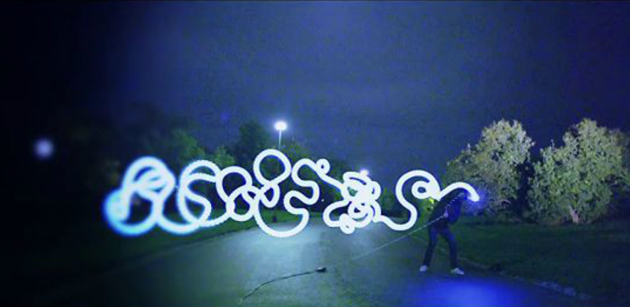 live action light painting