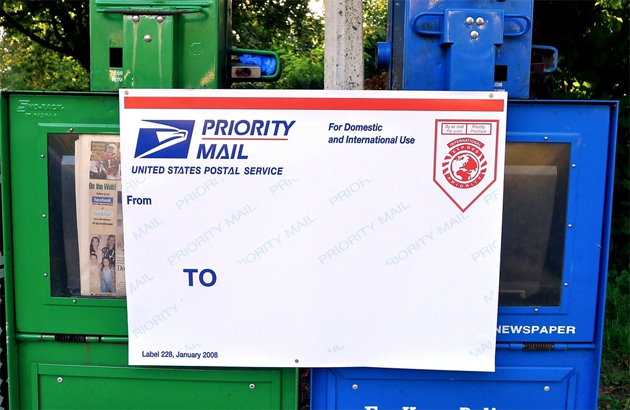lush postal poster