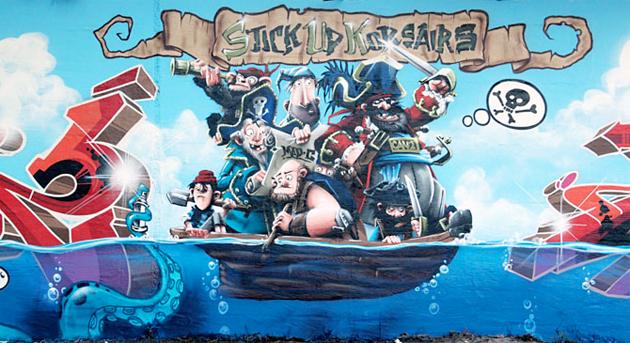 madc can2 pirates graffiti wall