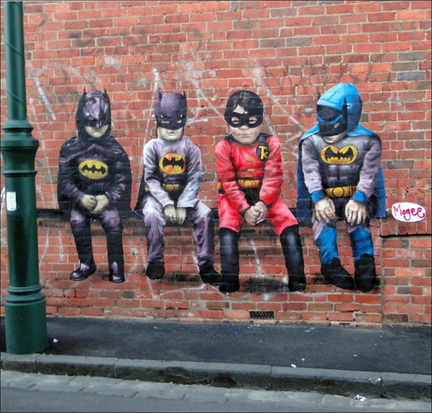 magee street art superhero kids